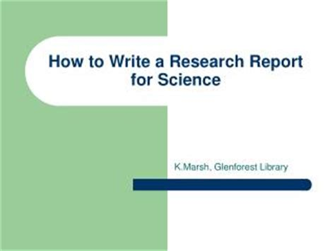 How to write a good scientific report introduction